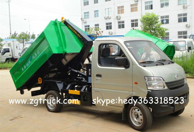 Chang'an mini hook arm garbage truck